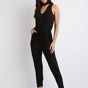 Forever 21 black sleeveless jumpsuit - Sz M